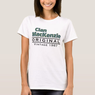 Clan MacKenzie Vintage Customize Your Birthyear T-Shirt