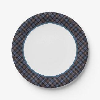 Clan Mackenzie Weathered Tartan Border Paper Plate