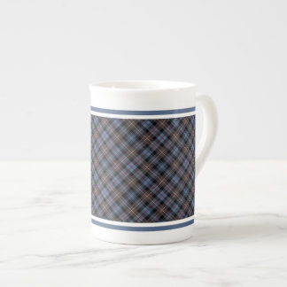 Clan Mackenzie Weathered Tartan Brown and Blue Tea Cup