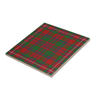 Clan MacKinnon Scottish Expressions Tartan Small Square Tile