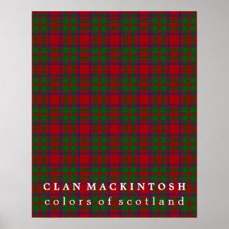 Clan MacKintosh Colors of Scotland Tartan Poster