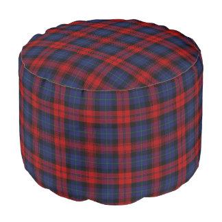 Clan MacLachlan Scottish Style Red Blue Tartan Pouf