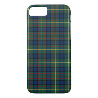 Clan MacLaren Tartan Blue and Green Scottish Plaid iPhone 8/7 Case