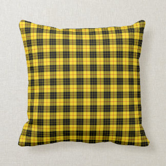 Clan MacLeod Black and Yellow Tartan Cushion