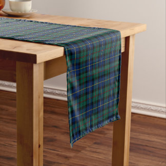Clan MacLeod of Skye Blue and Green Tartan Short Table Runner