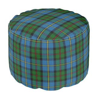 Clan MacLeod Scottish Style Blue Green Tartan Pouf