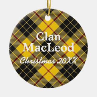 Clan MacLeod Scottish Tartan Ceramic Ornament
