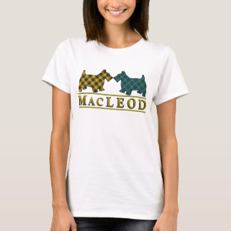 Clan MacLeod Tartan Scottie Dogs T-Shirt