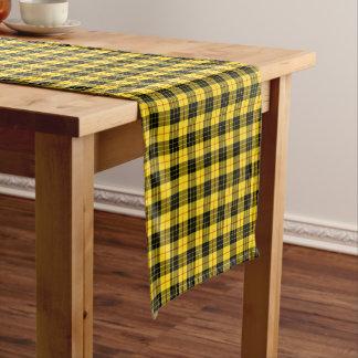 Clan MacLeod Yellow and Black Scottish Tartan Short Table Runner