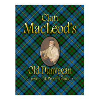 Clan MacLeod's Old Dunvegan Pipe Tobacco Postcard