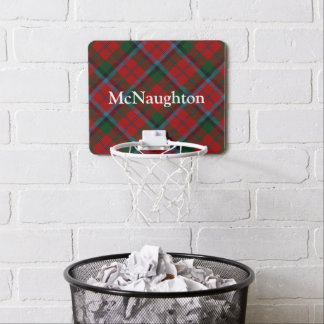 Clan MacNachtan Tartan Customize Name Mini Basketball Hoop