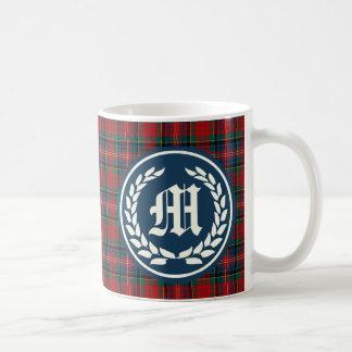 Clan MacPherson Tartan Monogram Coffee Mug