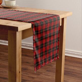 Clan MacQueen Red and Black Scottish Tartan Short Table Runner