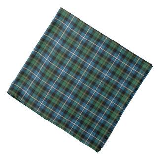 Clan MacRae Green and Blue Scottish Hunting Tartan Bandana