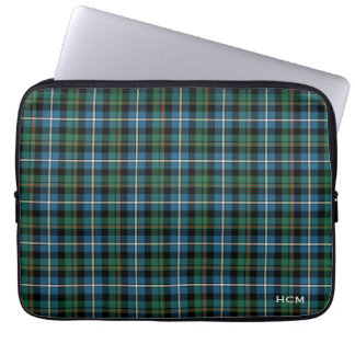 Clan MacRae Hunting Tartan Scottish Plaid Monogram Laptop Sleeve