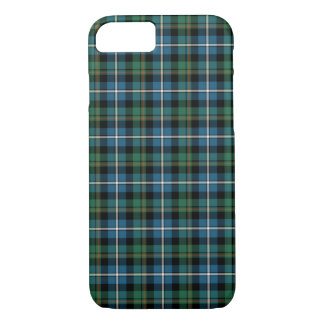 Clan MacRae Turquoise and Green Hunting Tartan iPhone 8/7 Case