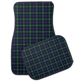 Clan Malcolm Dark Blue and Green Scottish Tartan Car Mat