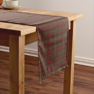 Clan Maxwell Brown and Red Scottish Hunting Tartan Short Table Runner