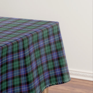 Clan Mitchell Royal Blue and Green Scottish Tartan Tablecloth
