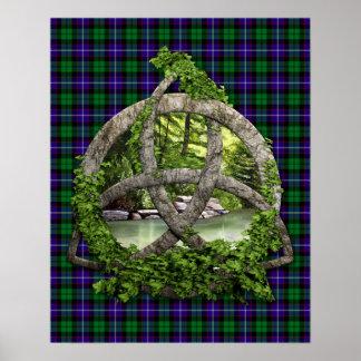 Clan Mitchell Tartan Celtic Trinity Poster