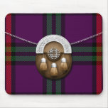Clan Montgomery Tartan And Sporran Mouse Pad