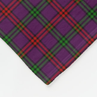 Clan Montgomery Tartan Purple Plaid Fleece Blanket