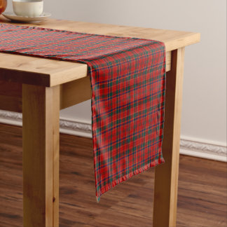 Clan Munro Bright Red Scottish Tartan Short Table Runner