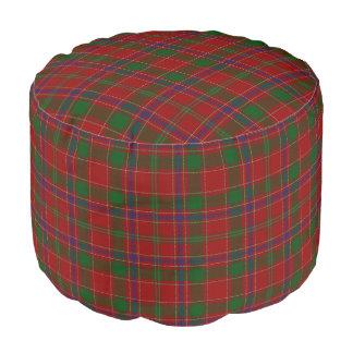 Clan Munro Scottish Style Red Green Tartan Pouf