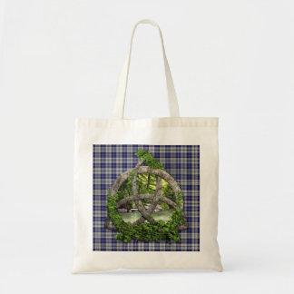 Clan Napier Tartan Celtic Trinity Tote Bag