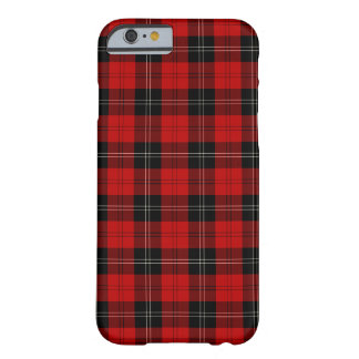 Clan Ramsay Black and Red Tartan Barely There iPhone 6 Case