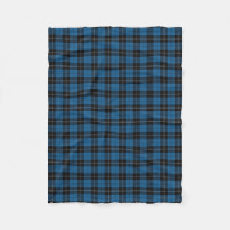 Clan Ramsay Ramsey Blue Hunting Tartan Fleece Blanket