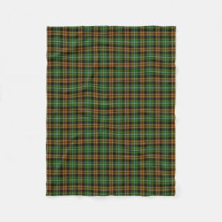 Clan Ramsay Ramsey Orange Hunting Tartan Fleece Blanket