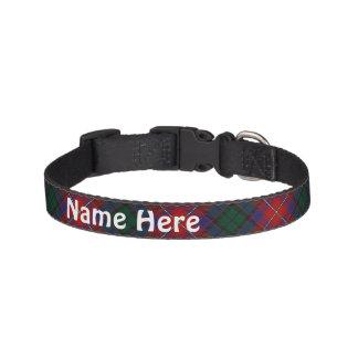 Clan Rattray Tartan Customize Pet's Name Pet Collar