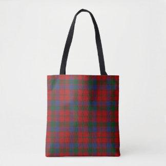 Clan Robertson Donnachaidh Red Green Tartan Plaid Tote Bag