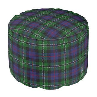 Clan Rose Scottish Style Blue Green Tartan Pouf