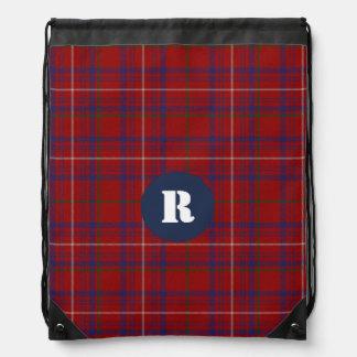 Clan Rose Tartan Plaid Monogram Backpack