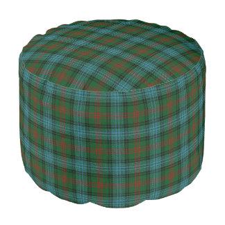 Clan Ross Scottish Style Blue Green Tartan Pouf