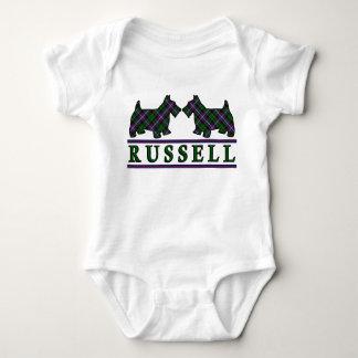 Clan Russell Tartan Scottie Dogs Infant Creeper