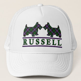 Clan Russell Tartan Scottie Dogs Trucker Hat