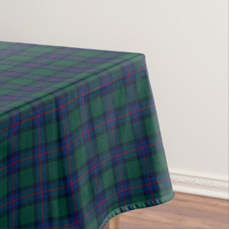 Clan Shaw Green and Royal Blue Scottish Tartan Tablecloth