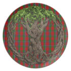 Clan Sinclair Tartan And Celtic Tree Of Life Plate