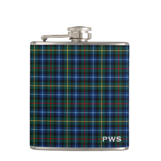 Clan Smith Tartan Monogram Hip Flask