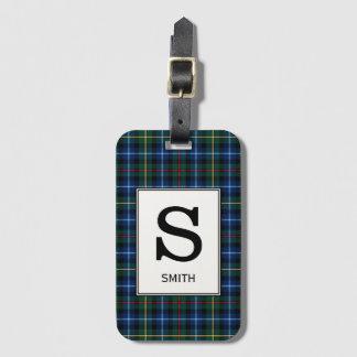 Clan Smith Tartan Monogrammed Luggage Tag