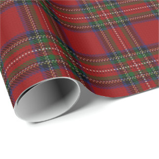 Clan Stewart Scottish Tartan Wrapping Paper