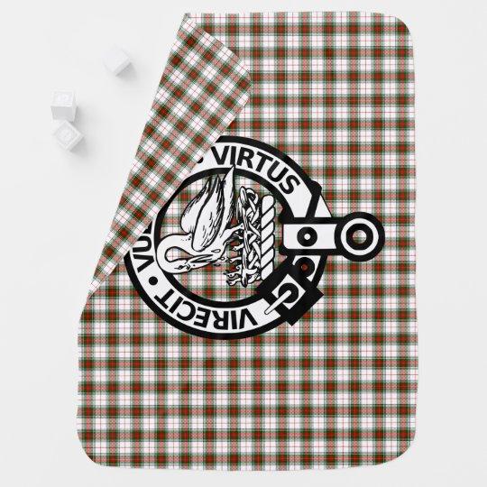 Clan Stewart Tartan Crest Baby Blanket