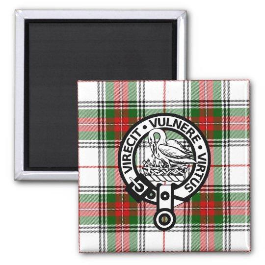 Clan Stewart Tartan Crest Magnet