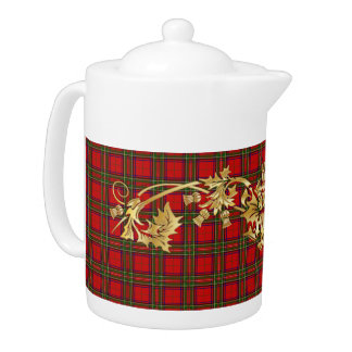 Clan Stewart Tartan Pattern & Scottish Thistle