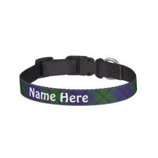 Clan Strachan Tartan Customise Pet's Name Pet Collar