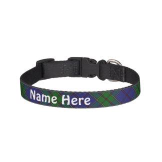 Clan Strachan Tartan Customize Pet's Name Pet Collar