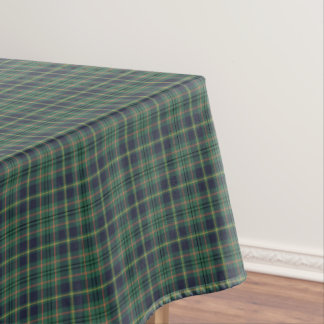 Clan Taylor Light Green and Navy Scottish Tartan Tablecloth